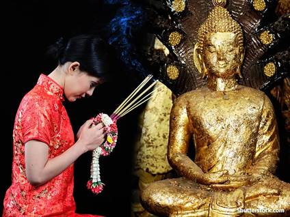 Religious Woman Buddist Prayer