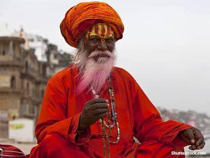 Hindu man praying