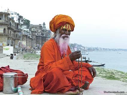religion Hindu man praying