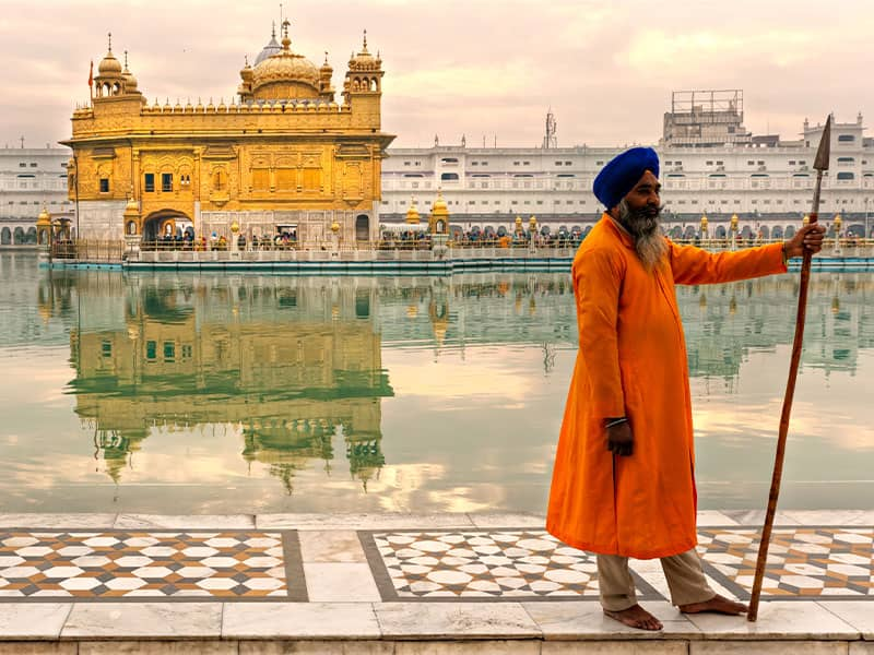 Sikh Pilgrims Golden Temple