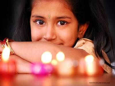 Young Girl - Diwali Festival