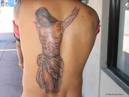 Crucifixion tattoo