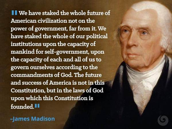 James Madison Quotes Classy Famous Christian Quotes From Presidents Beliefnet James Madison