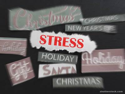 Christmas stress holiday