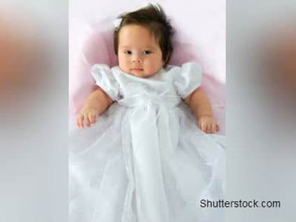 Baby in White Dress