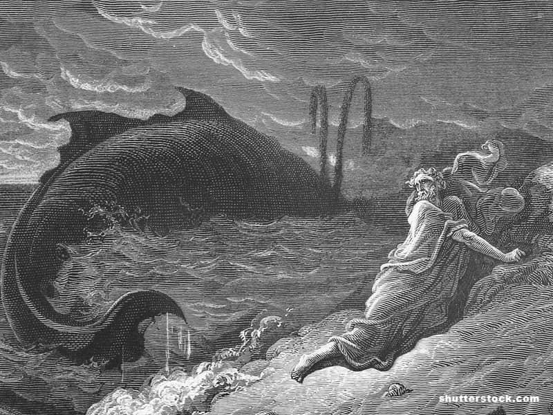 Jonah Whale Bible Painting