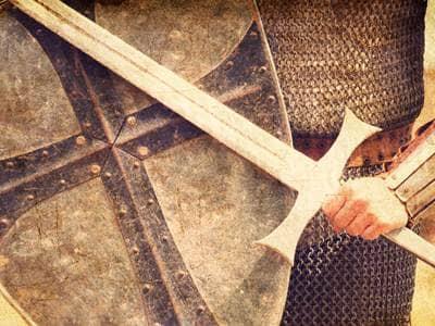 left hand sword soldier