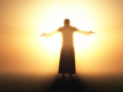 glowing jesus