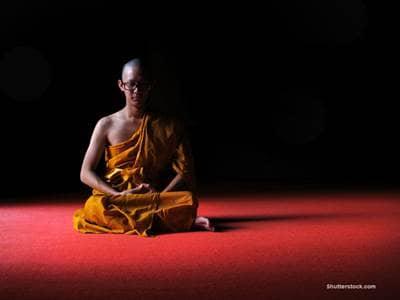 Buddhist Monk sitting