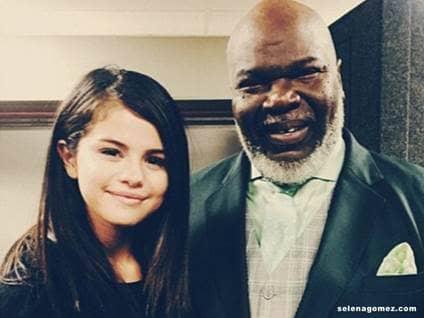 Selena Gomez Bishop TD Jakes