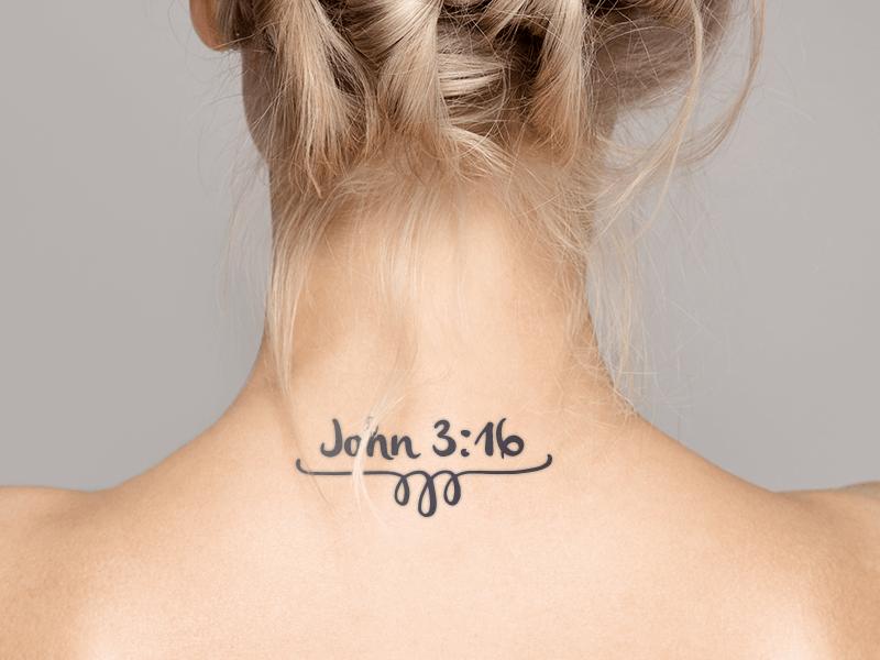 John 3:16 Tattoo