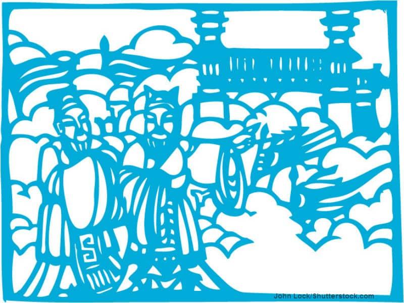 John Lock Confucion blue stencil