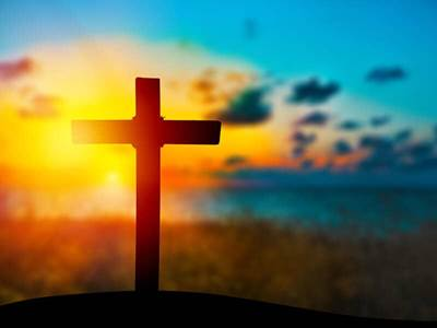 christian-cross-sunset-sky-blue-orange