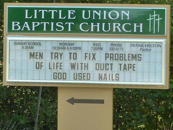 Ridiculously Funny Church Signs Funny Church Signs Hilarious