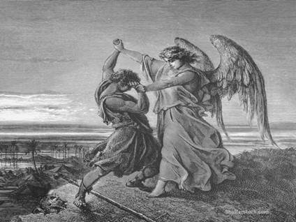 Jacob wrestles the angel, God wrestles Jacob, shocking scenes in the Bible