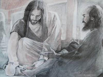 Jesus and disciples, Jesus with Peter, Jesus calms the storm, Jesus miracles