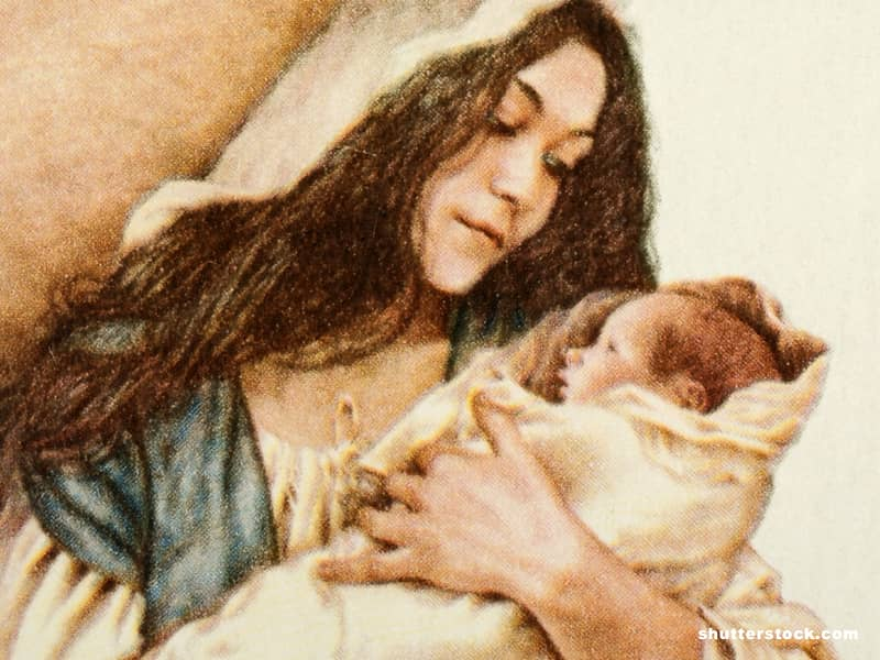Virgin Mary baby Jesus