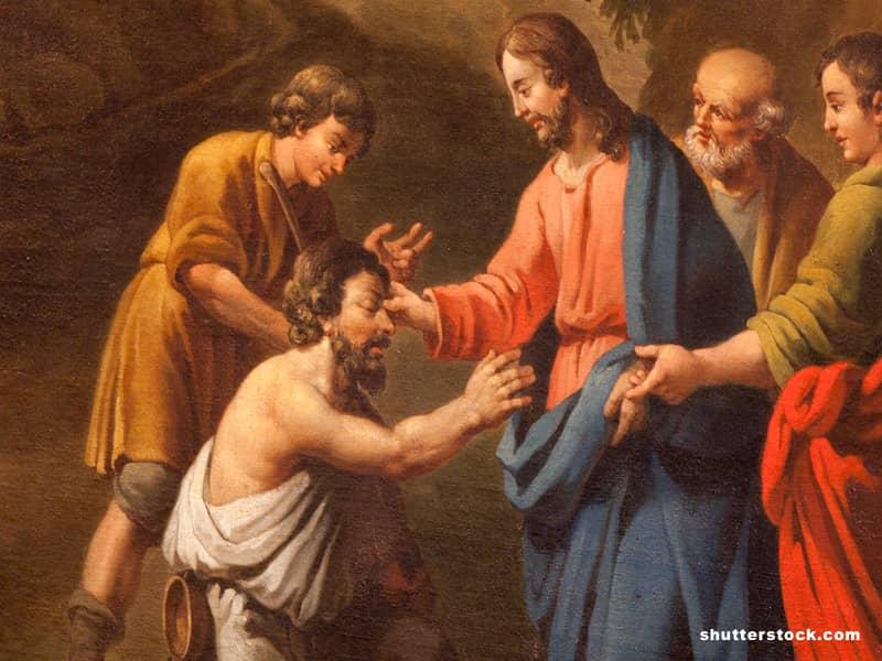 Jesus heal blind man