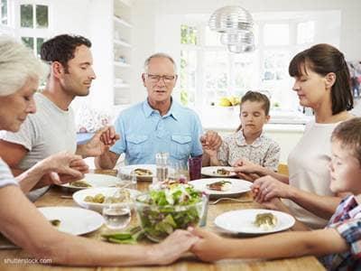 meal prayer grace blessing food family
