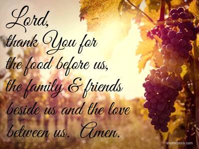 Meal Prayer Family Friends Love Grapes
