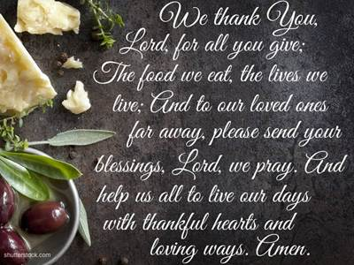 5 Great and Quick Prayers Before Meals - Thankful hearts - Beliefnet