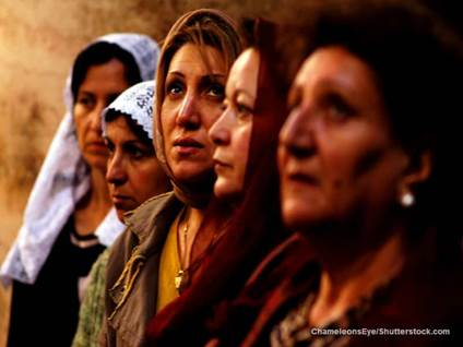 Christian Women Praying Jerusalem