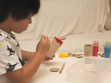 cardboard tube stamps