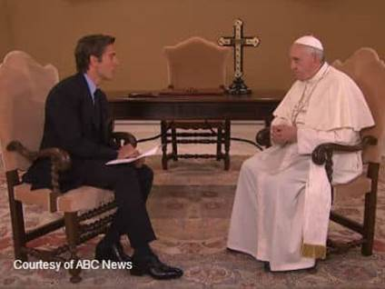 David Muir and The Pope Talking