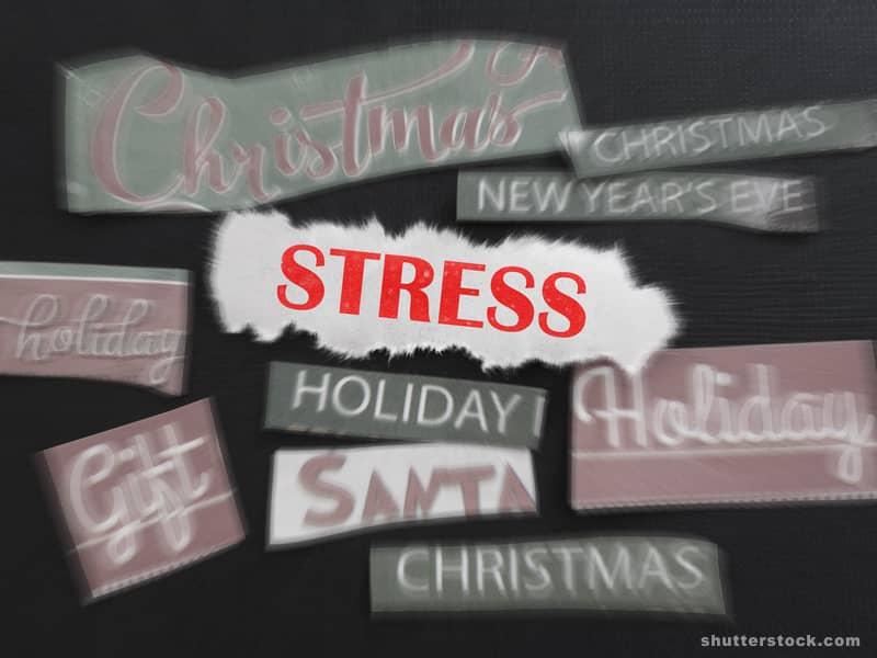 Christmas stress holiday