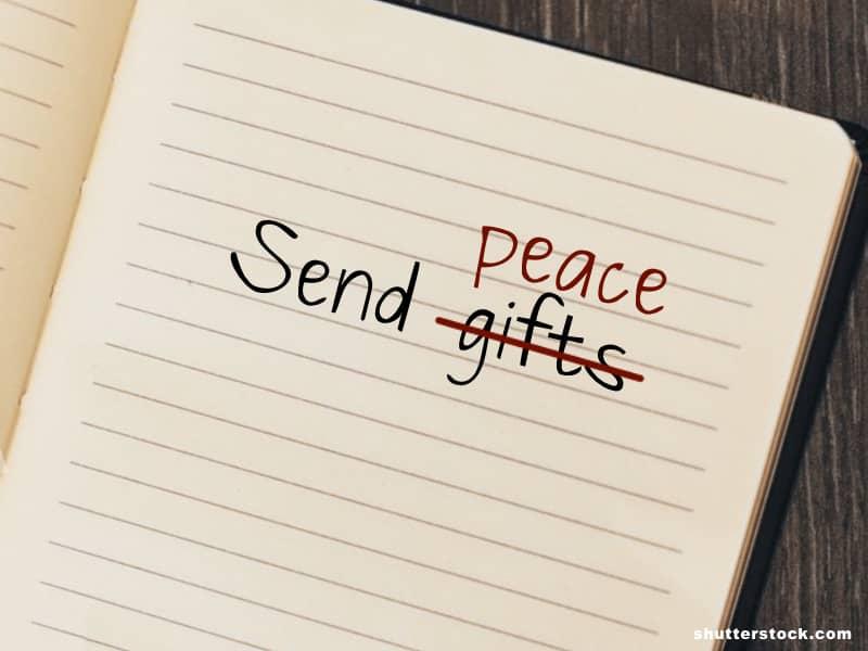 Send peace