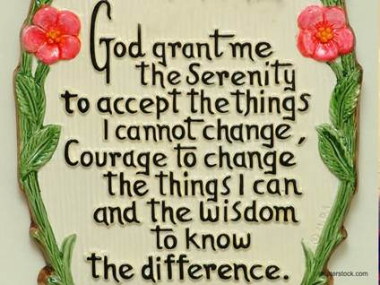 god grant me the serenity prayer