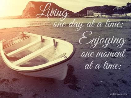 beach boat living enjoying serenity prayer