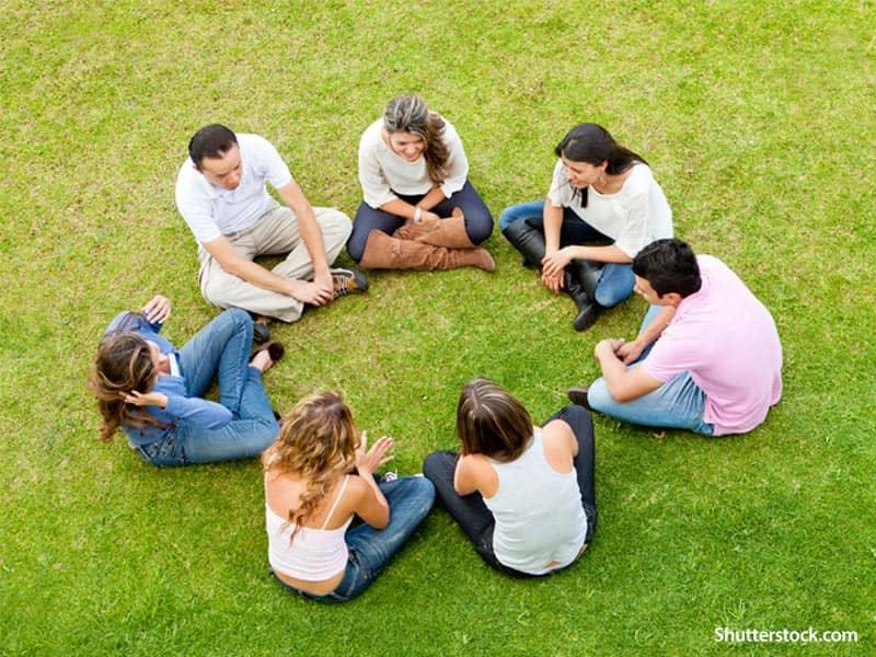 people group gathering