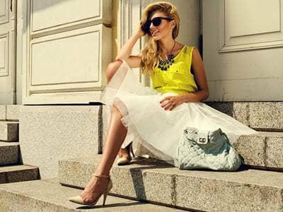 Fashionable Woman in Sun