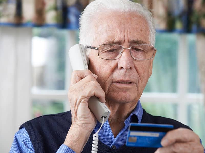 elderly person credit card