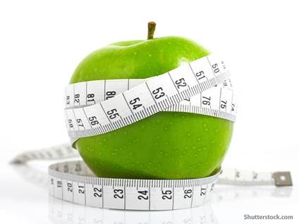 food apple measuring tape