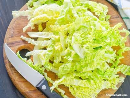 food chopped cabbage
