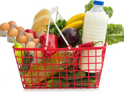 food groceries in basket