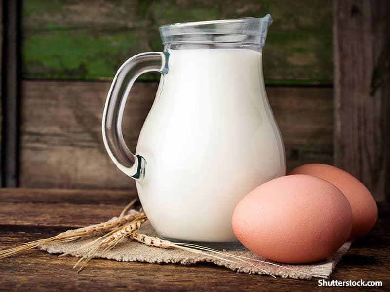 food milk eggs