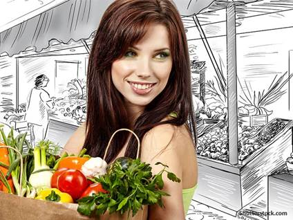 people woman grocery shopping