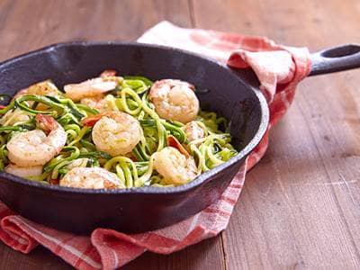 Shrimp Zucchini Pasta