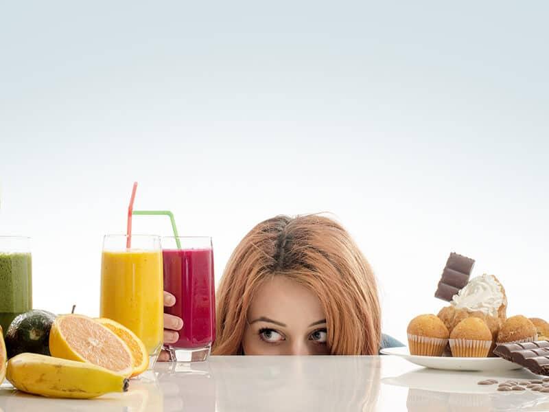 woman, food