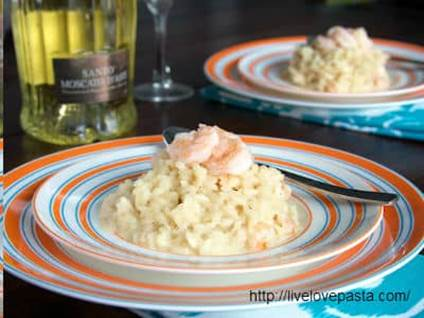 Champagne Risotto with Shrimp