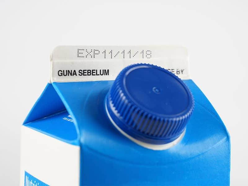 milk carton expiration date