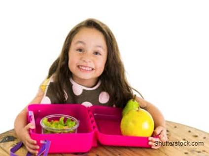 Little Girl with Lunchbox