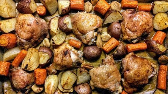 Roast with veggies