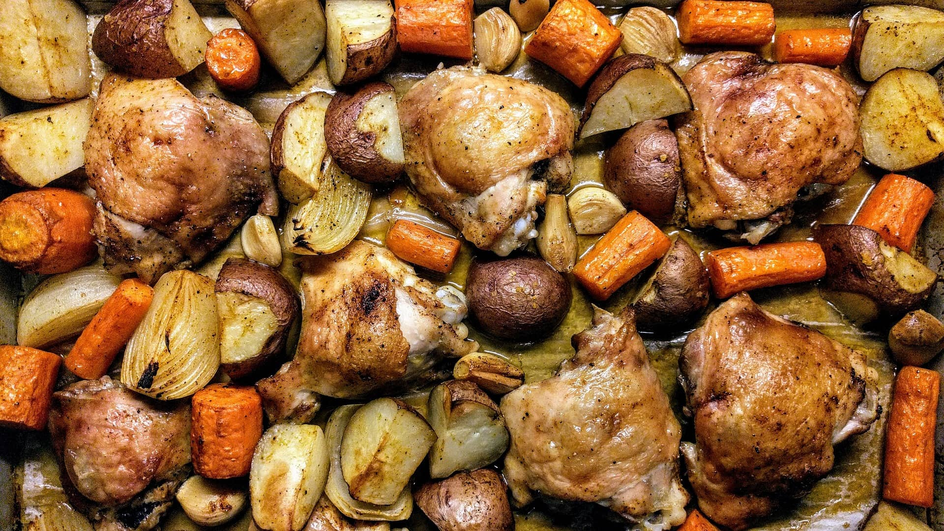 Roast with veggies
