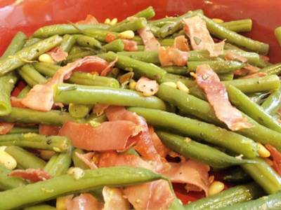 green beans and nuts