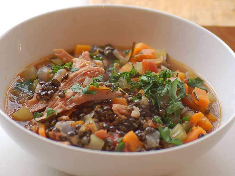 ham and lentil soup