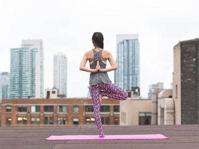 yoga outside urban